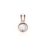 14-Carat Rose Gold Pendant With Diamond