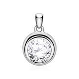 Diamond Pendant In 14 Carat White Gold