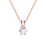 Halskette aus 14-karätigem Roségold mit Diamant
