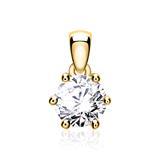 585er Goldanhänger für Damen mit Diamant