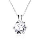 585er Weißgold Halskette für Damen mit Diamant