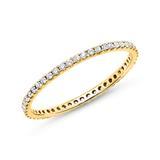 Eternity Ring 750er Gold 50 Diamanten