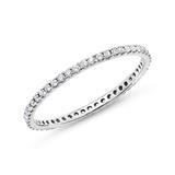 Eternity Ring 750er Weißgold 50 Diamanten