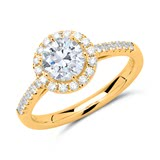Diamantring 750er Gold