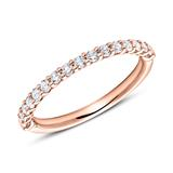 Eternity Ring 750er Roségold 16 Diamanten
