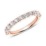 585er Roségold Memoire Ring Diamant