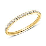 585er Gold Eternity Ring 25 Diamanten