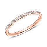 585er Roségold Eternity Ring 25 Diamanten