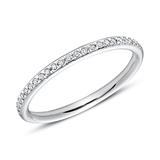 585er Weißgold Eternity Ring 25 Diamanten