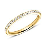 585er Gold Eternity Ring 2Diamant