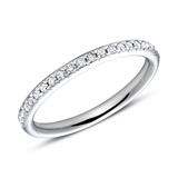 950er Platin Eternity Ring 2Diamant