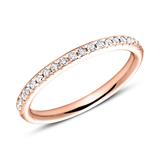 750er Roségold Eternity Ring 2Diamant