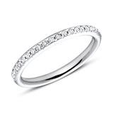 750er Weißgold Eternity Ring 2Diamant
