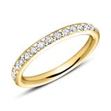 750er Gold Memoire Ring 17 Brillanten