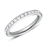 Ring Eternity 950er Platin 16 Diamanten