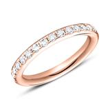 Ring Eternity 750er Roségold 16 Diamanten