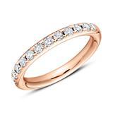 750er Roségold Eternity Ring 13 Diamanten