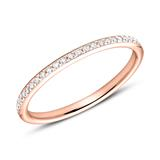 Ring Eternity 750er Roségold 49 Diamanten