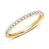 Memoire Ring 750er Gold 39 Diamanten