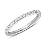 Memoire Ring 950er Platin 39 Diamanten