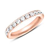 Eternity Ring 750er Roségold 25 Diamanten