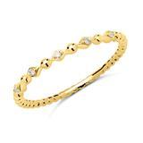 750er Gold Ring 5 Brillanten