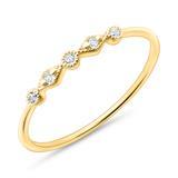 Ring aus 585er Gold für Damen mit Weißtopasen