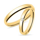 14K Gold Wedding Ring Set With Diamond