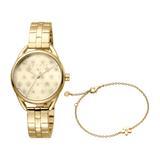 Uhr und Armband Debi Flowers S für Damen, goldfarben
