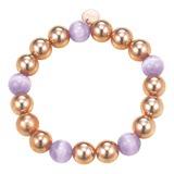 Armband Bold Spheres Lavender Rose