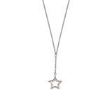 Sternkette aus Sterlingsilber mit Zirkoniasteinen