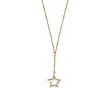 Damenkette mit Stern aus 925er Silber, vergoldet
