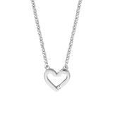 Herzkette Melody für Damen aus 925er Silber Zirkonia