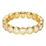 Silberring Embrace Glam Gold