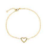 Bracelet Heart Of 14ct Gold Width Adjustable