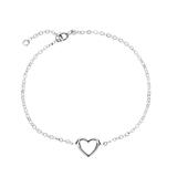 Ladies Bracelet Heart In 14-carat White Gold