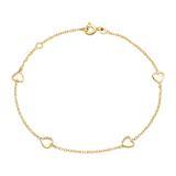 Herzarmband für Damen aus 585er Gold
