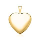 Gravierbares 585er Gold Medaillon Herz