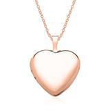 Medaillon Kette Herz aus 14K Roségold gravierbar