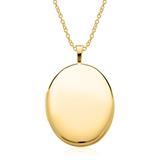 Kette mit ovalem Medaillon aus 585er Gold gravierbar