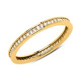 333er Gold Eternity Ring mit Zirkonia