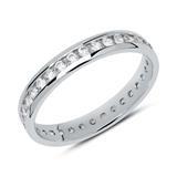 Eternity-Ring aus 8-karätigem Weißgold mit Zirkonia
