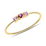 Ring For Ladies In 9K Gold With Zirconia