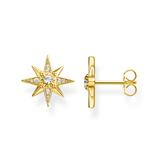 Damen Ohrstecker Sterne aus vergoldetem 925er Silber