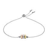 925er Silber Armband für Damen mit Glassteinen
