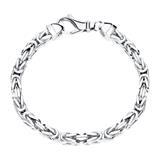 925er Silber Königsarmband für Herren, 5,0 mm