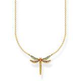 Kette Libelle klein für Damen 925er Silber vergoldet