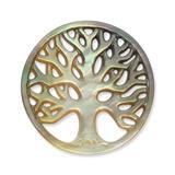 Münze für Münzanhänger Baummotiv dunkel