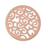 Münze Edelstahl Ornamente roségold