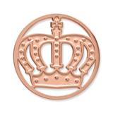 Münze Edelstahl Krone roségold